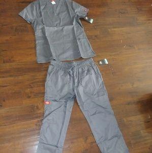 Brand New: Gray Dickie Nursing Scrub Set